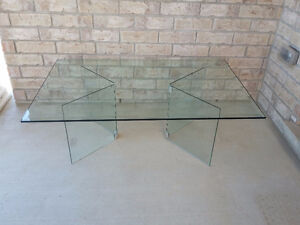 Large Bevelled glass top and base coffee table London Ontario image 4