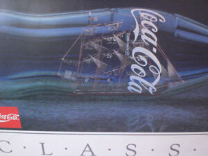 Coca-Cola Classic   Ship in a Bottle   Poster Kawartha Lakes Peterborough Area image 1