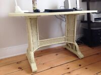 Vintage wicker desk or small table