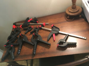 Excellent condition Assorted black clamps