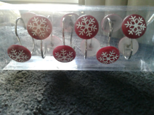 Brand New Christmas Shower Curtain Rings