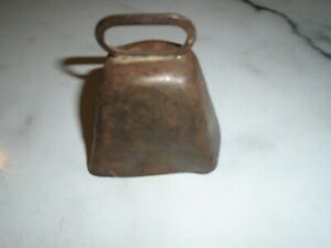 Vintage Handmade Cow Bell 3 Inches High