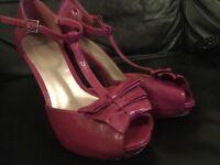 ASOS pink bow detail heeled shoe