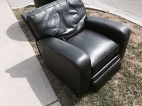 Brown leather recliner free