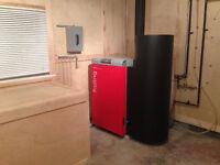 Froling wood pellet boiler