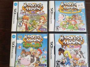 Harvest Moon Games IoH, DS Cute, ToTT, SI For Nintendo DS