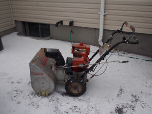 Craftsman snowblower and lawnmower for sale.