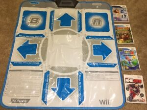 Wii games and DDR mat