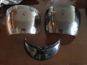 Helmet shields and visor, new and used