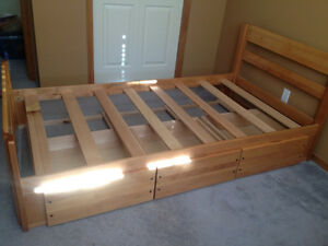 Solid maple twin bed frame