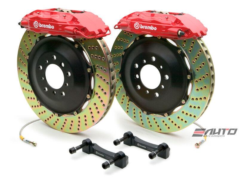 Brembo Rear Gt Brake 4pot Red 355x32 Drill Escalade 02-06 Chevy Gmc 1500 02-06