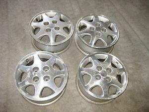 "4 OEM 15"" Mag Wheels JDM S13 Silvia 180SX 240SX 4x114.3 Rim"