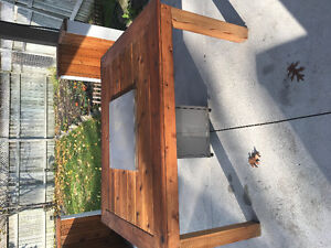 Propane fire pit plus table made for it