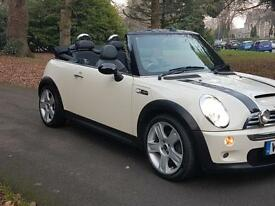 55 Mini 1.6 ( Chili ) Cooper S convertible low miles 1 former keeper fsh white £3795 *207cc a3 golf