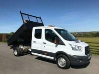 2015 15 FORD TRANSIT 125 T350 DOUBLE CAB TIPPER 2.2 TDCI EURO 5 DEISEL