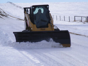 "Winter Blow Out - Snow Dozer Blade 96"" skid steer mount Conterra"