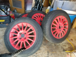 4 Honda rims and summer tires 15""