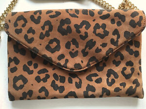 "J CREW Leopard SUEDE ""Invitation"" Envelope CLUTCH/CROSSBODY London Ontario image 5"
