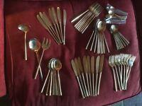 Thai Nickel Bronze 8 Piece Cutlery Set