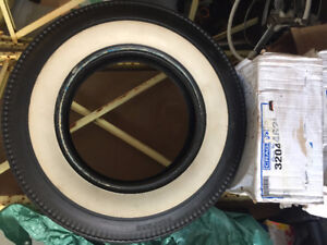 """Vintage Bedford brand 3"""" white wall tire set of 4"""