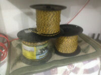 Electric fence wire for live stock