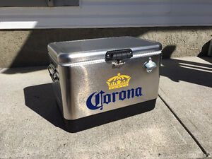 Corona - Coleman Stainless Steel Beer Cooler / Ice Chest