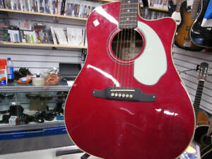 Belle guitare Fender  SVE Red Candy Sonoran.