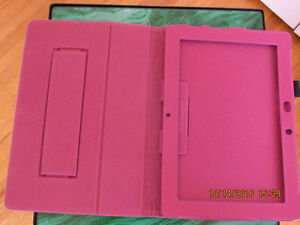 Real Leather Pink 10 inch tablet folio case