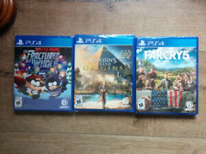 PS4-AC: Origins , Far Cry 5 , South Park: The Fracture but Whole