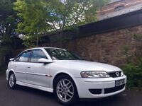 Rare! Vauxhall Vectra 2.6 Sri V6 170 BHP White Excellent Condition.