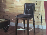 New Leather/Wooden Bar Chair