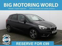 2018 BMW 2 Series 218I SPORT ACTIVE TOURER Auto Hatchback Petrol Automatic