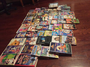 100 + VHS & DVD's selling as a lot