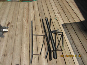 4 metal patio bench supports