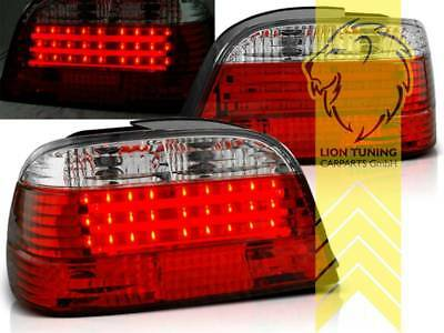 BMW 7 REIHE E38 ROT SMOKE RÜCKLEUCHTEN LINKS UND RECHTS 1994-2001 HECKLEUCHTEN