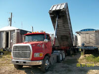 Aluminum End Dump Trailers 22' to 43' + Trucks with Wet Kits
