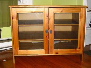 Ikea Leksvik TV cabinet with glass doors (antique finish)