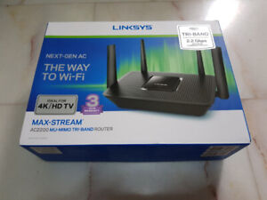 Linksys Router Wireless AC2200 TriBand Gigabit Router EA8300 NEW