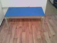 Blue Top Table (110cm x 50cm x 50cm)
