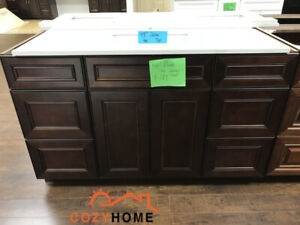 "54"" demo solid wood bathroom vanity"