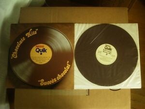 rare 1 of a kind, NESTLE QUIK - CHOCOLATE HITS, colored vinyl LP