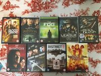 11 Action DVD Collection, including Resident Evil Trilogy.