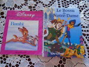 4 livres  pour enfants Walt  Disney