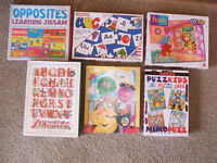 6 children's puzzles/puzzle game--all are complete