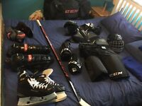 Full set of XL Men's ice hockey equipment