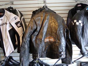 Harley leather jacket in Med.  recycledgeaar.ca Kawartha Lakes Peterborough Area image 9
