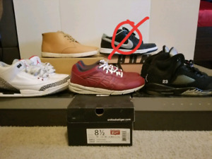Jordans, Nike SB, ASIC's, and Clae  FOR SALE !!