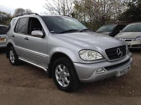 2002 Mercedes-Benz ML270 2.7TD auto CDI-LOW MILEAGE-FULL LEATHER-SIDE STEP