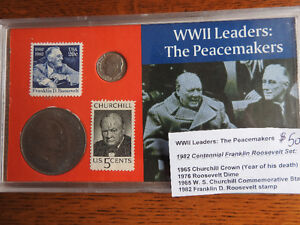 """1982 World War two coin presentation set: """"The Peacemakers"""""""