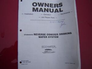 Reverse Osmosis Water Filtration System Swap / Trade